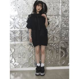 WY lacy裏毛O/P (ブラック)