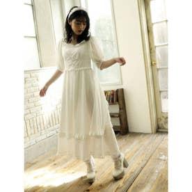 PN flower cotton O/P (ホワイト)