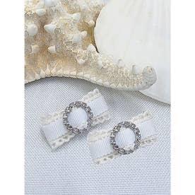 HS lace clip (ホワイト)