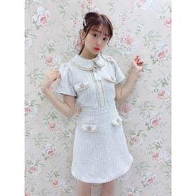 TS tweed line O/P (ホワイト)