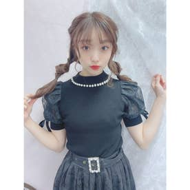 HB summer sleeve knit (ブラック)