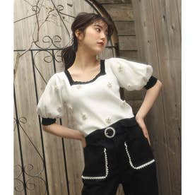DR daisy bijou knit (ホワイト)