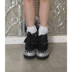EV pearl satin shoes (ブラック)