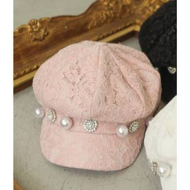 SX bijou lace casquette (ピンク)