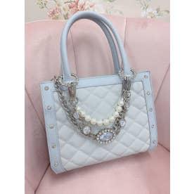 UT bijou chain BAG (サックス)