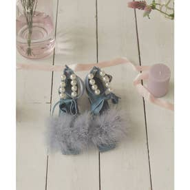 EV feather ballet mulle (ブルー)