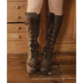 EV vintage lace boots (ブラウン)