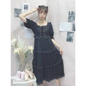 DC laceup tulle O/P (ブラック)