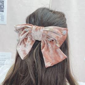 SX velour big ribbon (ピンク)