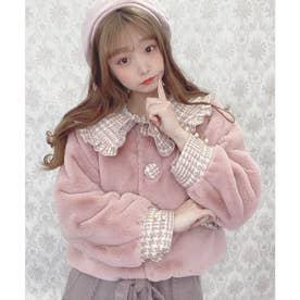 TS tweed fur C/T (ピンク)
