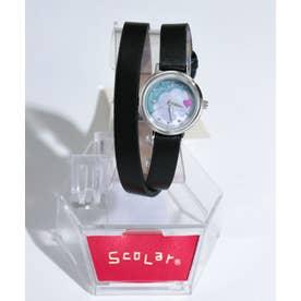 2重巻き腕時計 (ブラック)