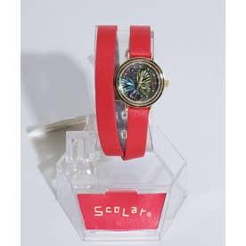 2重巻き腕時計 (レッド)
