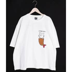 NYABIFURAIアップリケTシャツ (オフホワイト)