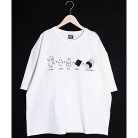 KUMAZUSHI刺繍Tシャツ (オフホワイト)