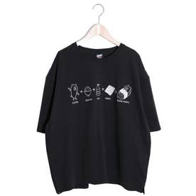 KUMAZUSHI刺繍Tシャツ (ブラック)