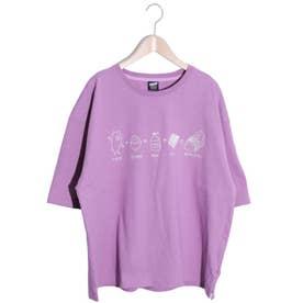 KUMAZUSHI刺繍Tシャツ (パープル)