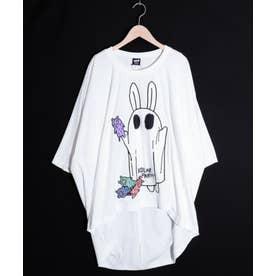 おばけごっこウサギ柄Tシャツ (オフホワイト)
