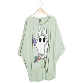 おばけごっこウサギ柄Tシャツ (グリーン)