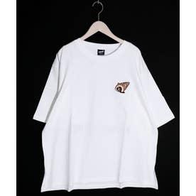ワンポイント刺繍Tシャツ (オフホワイト)