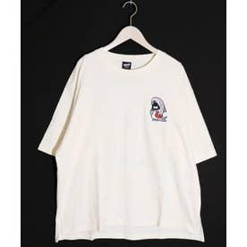 ワンポイント刺繍Tシャツ (アイボリー)