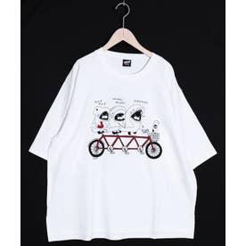 SAMEKURING Tシャツ (オフホワイト)