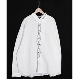 豆ラビル刺繍シャツ (オフホワイト)
