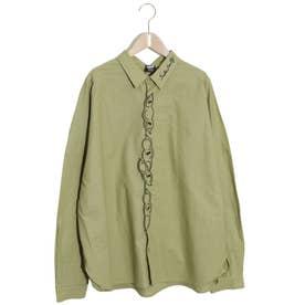 豆ラビル刺繍シャツ (カーキ)