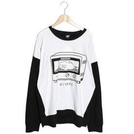 UV日焼けクマ ロングスリーブTシャツ (オフホワイト)