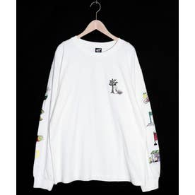 KUMAEATS刺繍ロングスリーブTシャツ (オフホワイト)