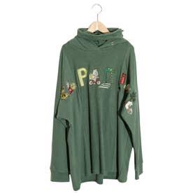 KUMAEATS刺繍プルパーカー (グリーン)