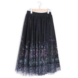 チュールボリュームスカート (ブラック)