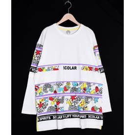 ロゴBIGロングスリーブTシャツ (オフホワイト)