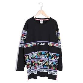 ロゴBIGロングスリーブTシャツ (ブラック)
