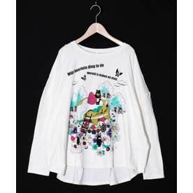 パンケーキロングスリーブTシャツ (オフホワイト)