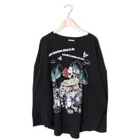 パンケーキロングスリーブTシャツ (ブラック)