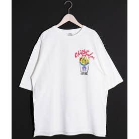 ポテト柄BIG Tシャツ (オフホワイト)
