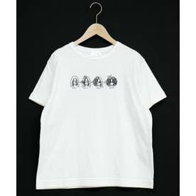 スカラーちゃん刺繍Tシャツ (オフホワイト)