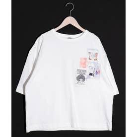 コラージュアップリケTシャツ (オフホワイト)