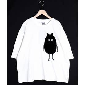 パリモ柄 立体ポケットTシャツ (オフホワイト)