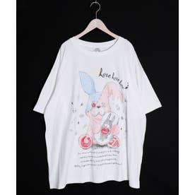ラビル大好きうさぎ人形柄BIG Tシャツ (オフホワイト)