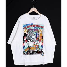WORLD OF SCOLAR柄Tシャツ (オフホワイト)