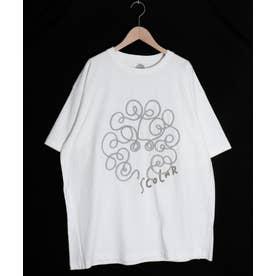 コードテープ貼り付けスカラーちゃんTシャツ (オフホワイト)