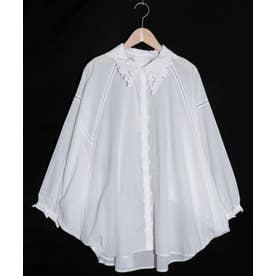 ぶどう刺繍襟シャツ (オフホワイト)