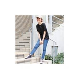 シンプルドルマンtシャツ(トップス/Tシャツ/Vネック/カットソー/ギャザー/夏/ゆったり) ブラック
