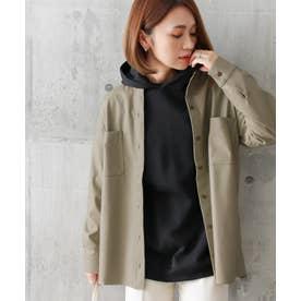 エコレザーCPOシャツジャケット (ライトカーキ)