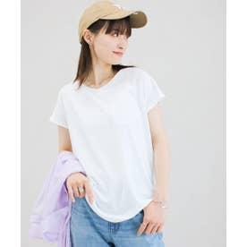 美ラインシンプルTシャツ (puホワイト)