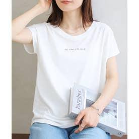 美ラインシンプルTシャツ (ロゴホワイトt)