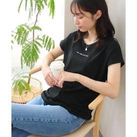 美ラインシンプルTシャツ (ロゴブラックt)