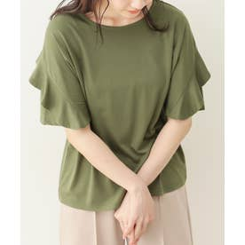 フリルTシャツ (puカーキ)