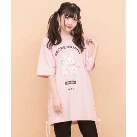 アイスうさぎプリントビッグTシャツ(ピンク)